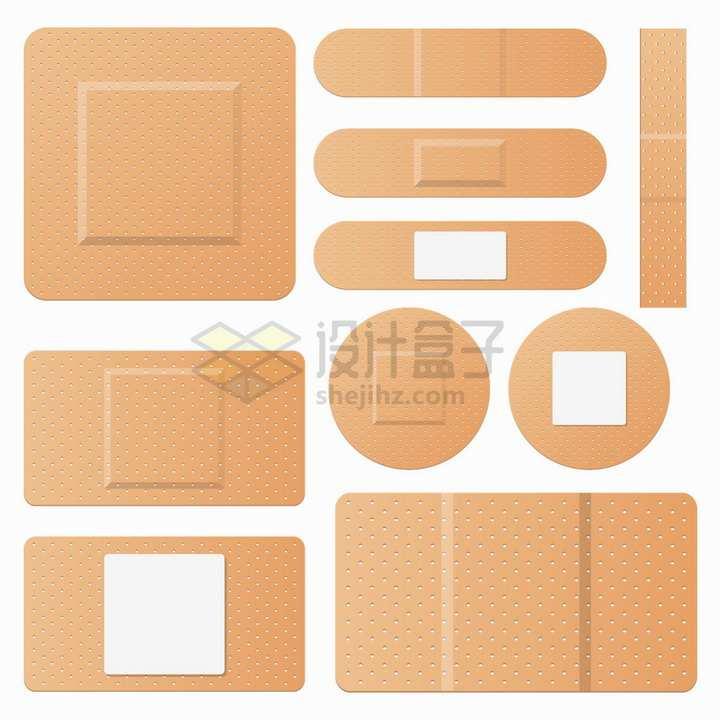 各种形状的创口贴医疗用品png图片素材