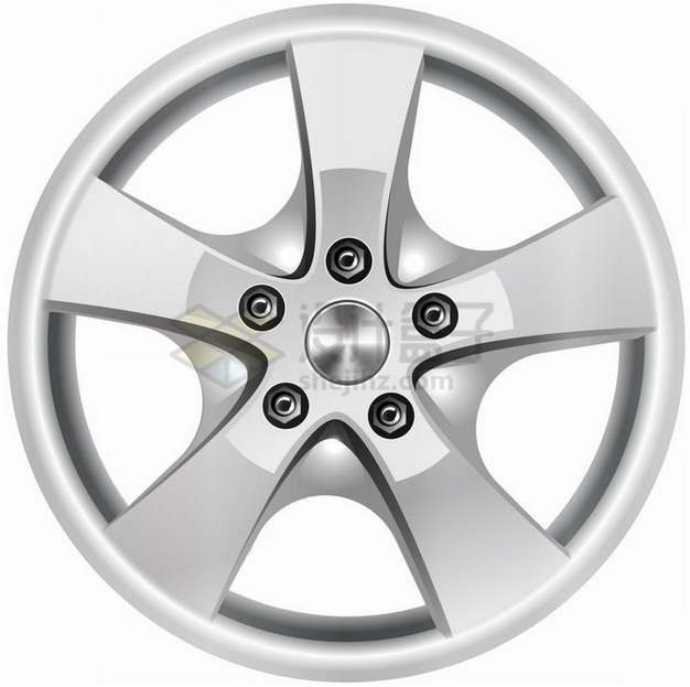 银色的汽车轮毂轮圈png图片素材