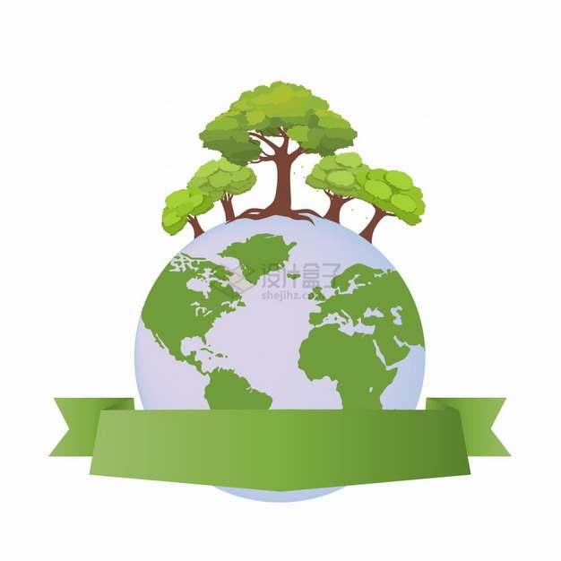 地球上的树木森林世界地球日png图片素材