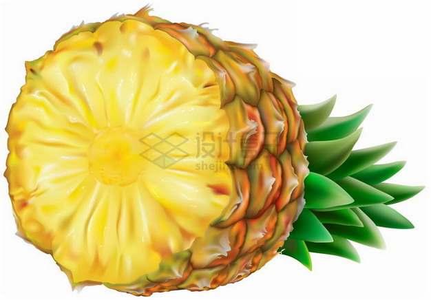 切开的台湾凤梨金菠萝png图片素材