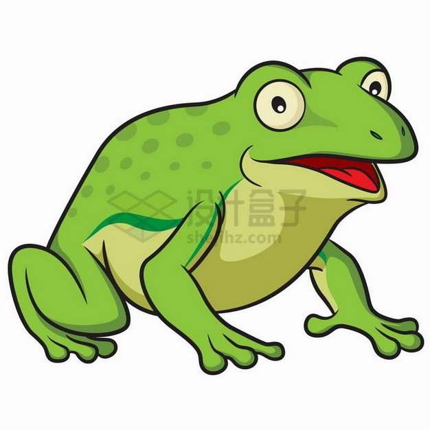 绿色的卡通青蛙png图片素材
