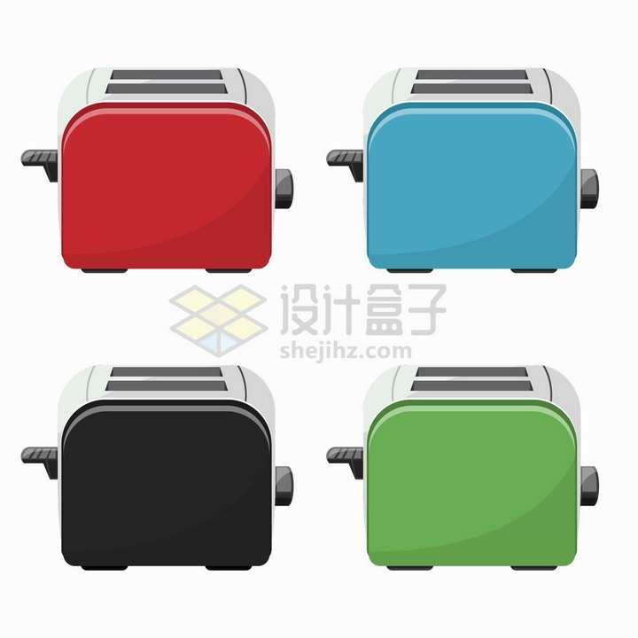 4款糖果色烤面包机早餐机厨房用品png图片素材