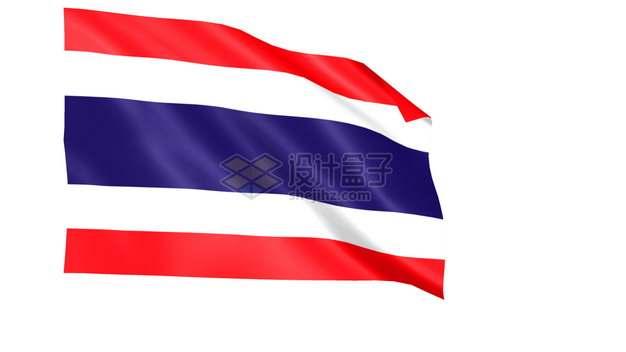 飘扬的泰王国泰国国旗图案png图片素材