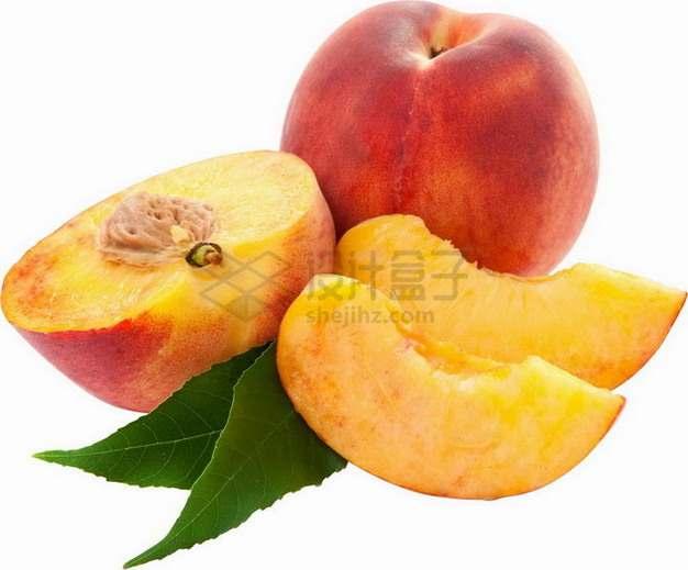 切开的阳山水蜜桃美味桃子png图片素材