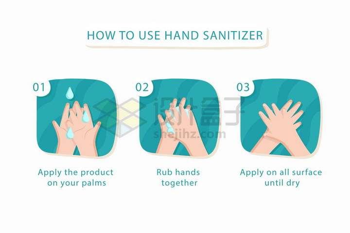 卡通插图风格正确洗手的方法简笔画png图片免抠矢量素材