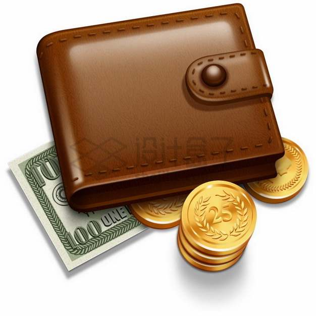 钱包金币和美元46219785png图片素材