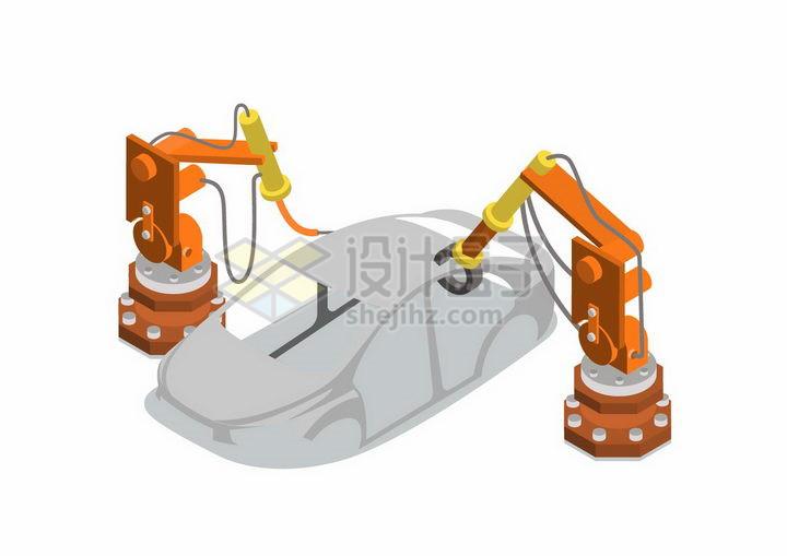 2.5D风格汽车制造工业png图片免抠矢量素材 工业农业-第1张