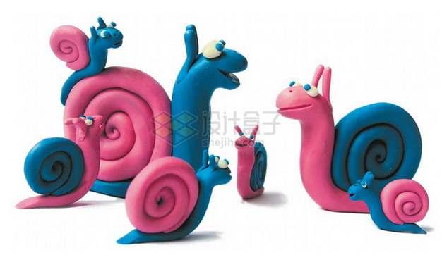 橡皮泥手工制作可爱动物之蜗牛png图片素材