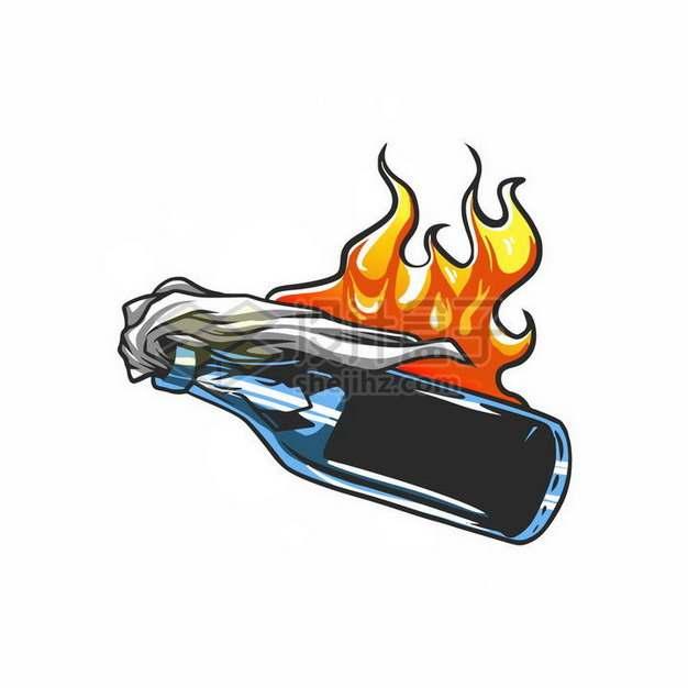 卡通风格燃烧瓶png图片免抠矢量素材
