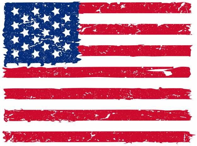 涂鸦风格的美国星条旗国旗图案png图片素材