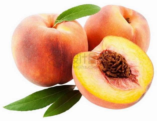 切开的桃子奉化水蜜桃露出桃核png图片素材