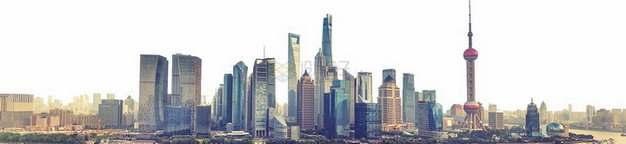 上海陆家嘴城市天际线png图片素材