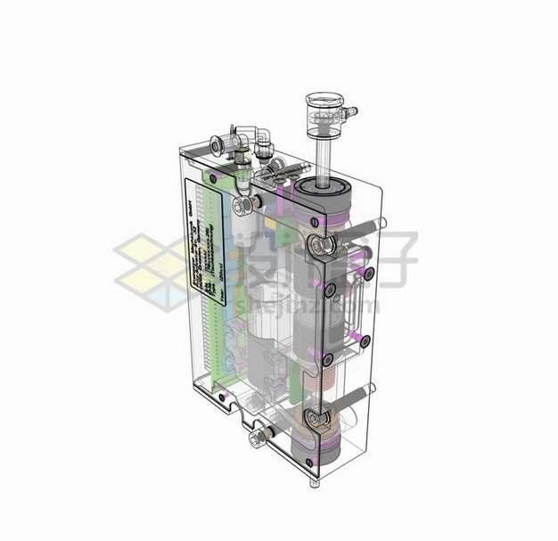 半透明光刻机核心设备png图片素材