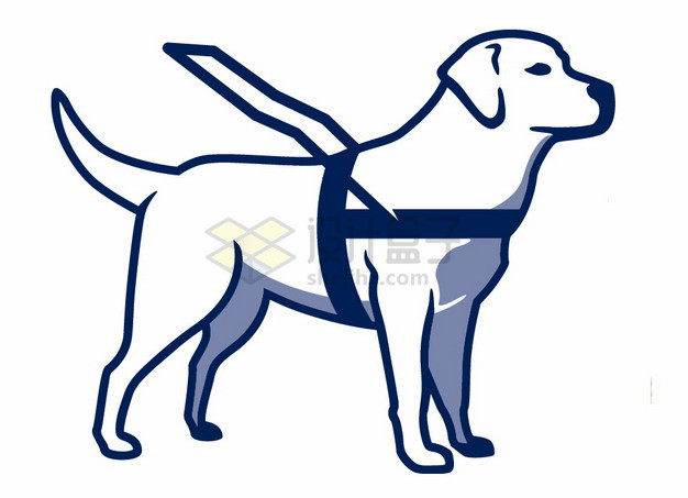卡通导盲犬png图片素材