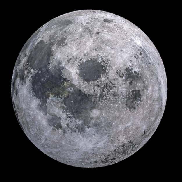 月球正面高清照片png图片素材