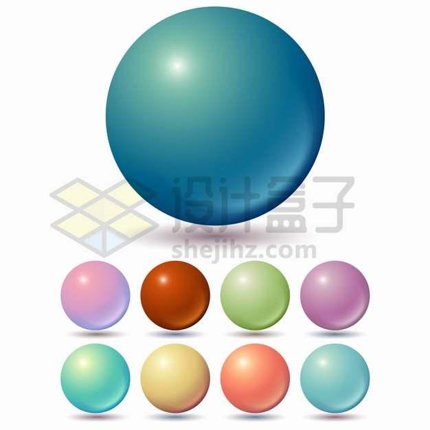9款彩色小球高光圆球6875932png图片素材