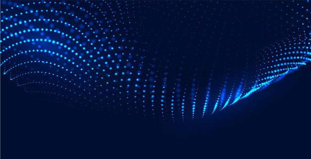 海蓝色粒子量子波动抽象黑色背景图9241065png图片素材