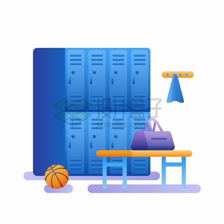 健身房更衣室更衣间储物柜png图片免抠矢量素材