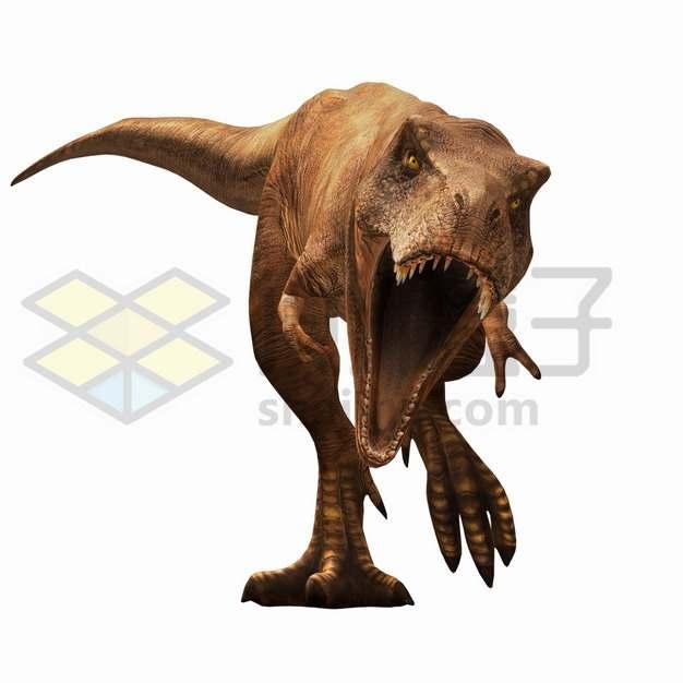 张开血盆大口的霸王龙特暴龙大型食肉恐龙png图片免抠素材