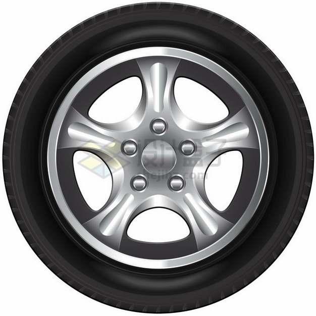 汽车轮胎烤漆合金轮毂侧面图png图片素材