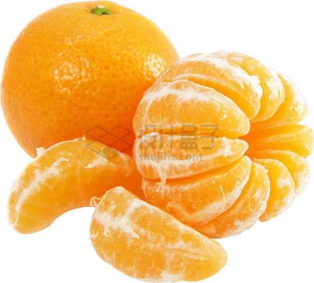 剥开的橘子沃柑png图片素材