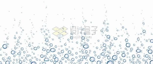 各种水中的半透明蓝色泡泡水泡气泡装饰png图片素材