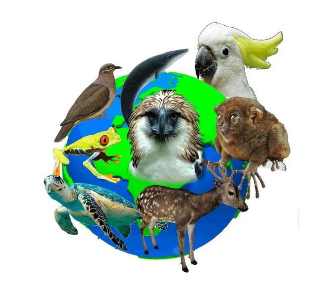 围绕地球的各种野生动物国际生物多样性日png图片素材