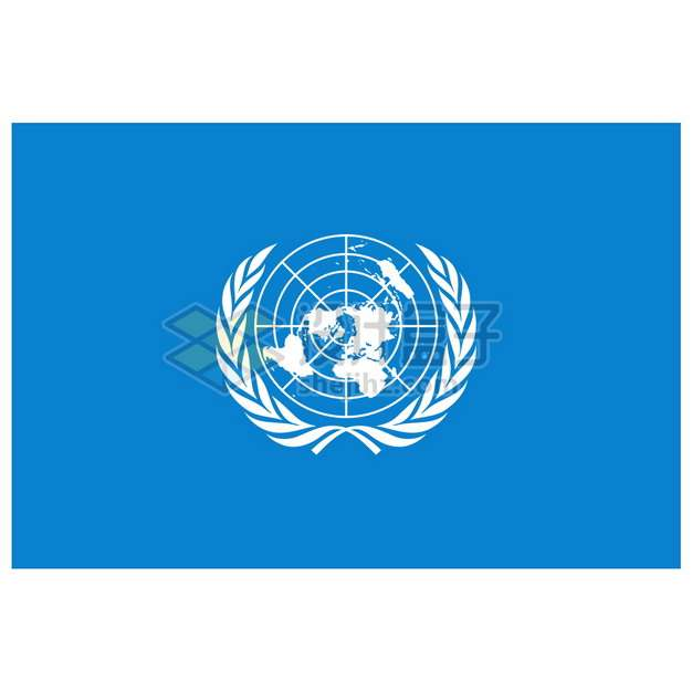 联合国旗帜图案png图片素材