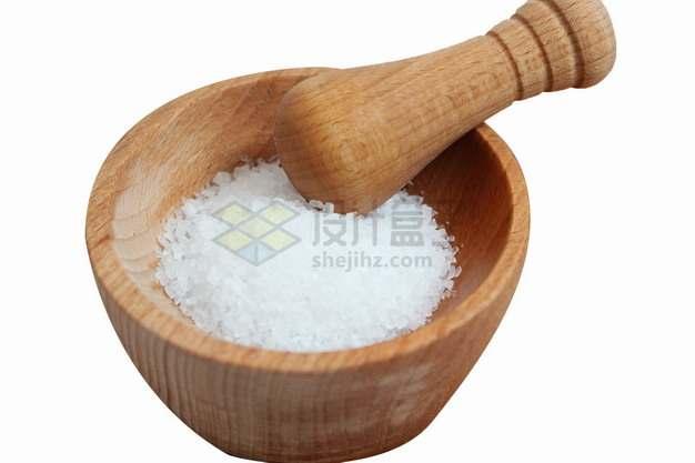木臼木制研磨器中的食盐png图片素材