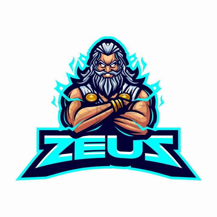 宙斯希腊神话人物logo设计png图片免抠矢量素材