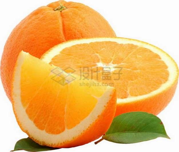 切开的橙子赣南脐橙png图片素材