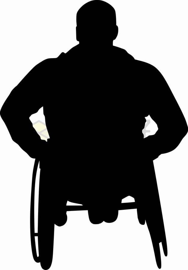残疾人坐在轮椅上人物剪影png图片素材5678645