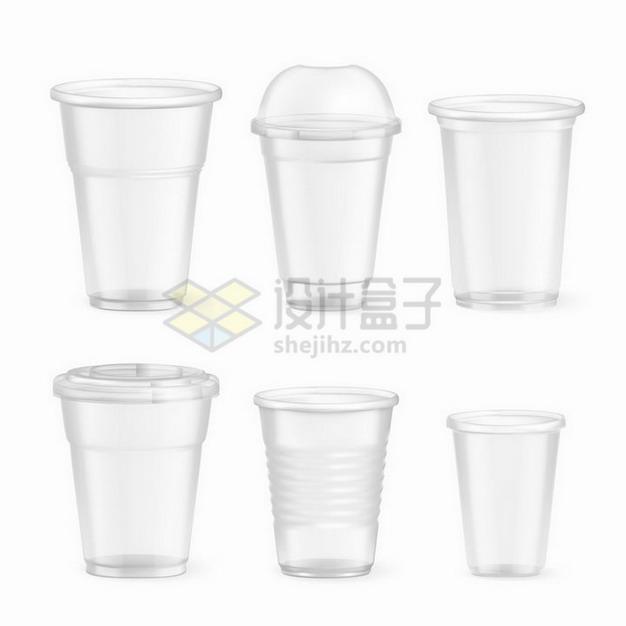 6款半透明的一次性塑料杯子png图片免抠矢量素材 生活素材-第1张