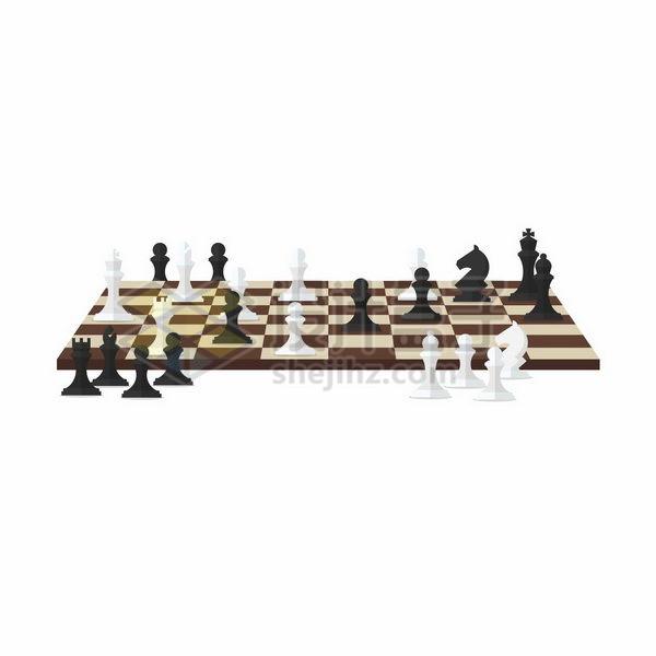 国际象棋棋盘和棋子png图片免抠矢量素材 休闲娱乐-第1张