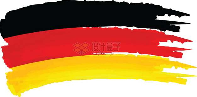 涂鸦德国国旗图案png图片素材