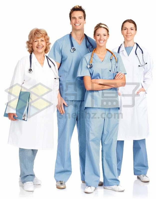 4个医生医护人员合影3762521png图片素材
