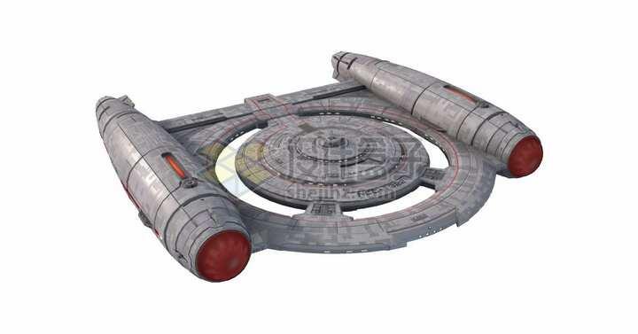 星际迷航中的科学考察船png图片免抠素材