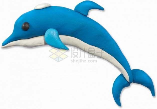 橡皮泥手工制作可爱动物之海豚png图片素材