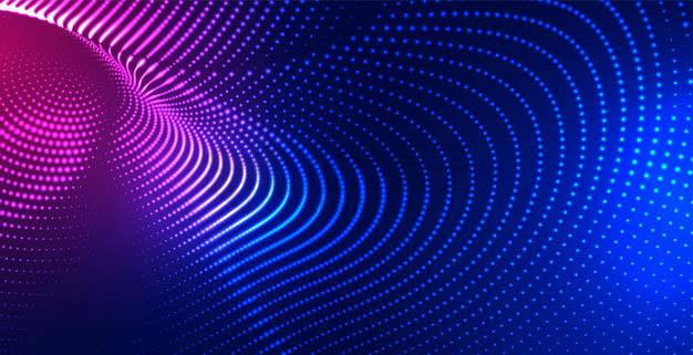 红色蓝色渐变色粒子量子波动抽象黑色背景图3174746png图片素材
