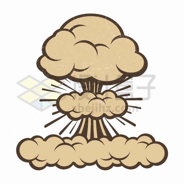 棕色的卡通爆炸插画png图片素材