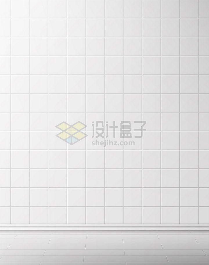 白色瓷砖方格背景png图片素材 背景-第1张