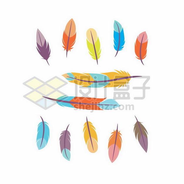 各种彩色羽毛图案3256823png图片素材 漂浮元素-第1张