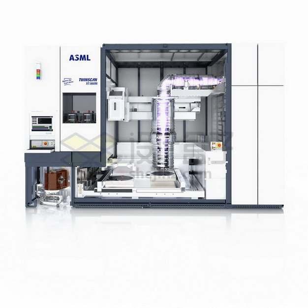 ASML极紫光刻机实物正面图png图片素材
