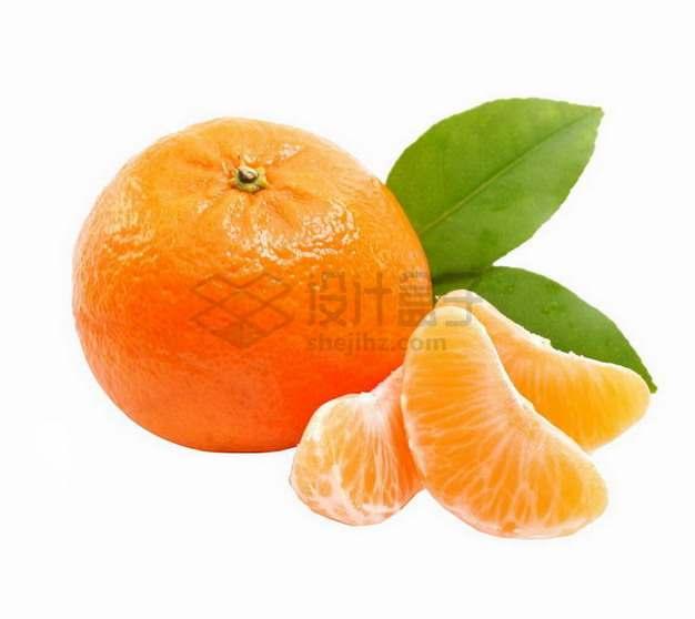 剥开皮的沃柑橘子png图片素材