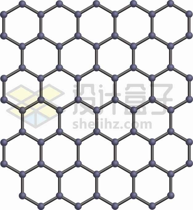 石墨烯薄膜结构图png图片素材