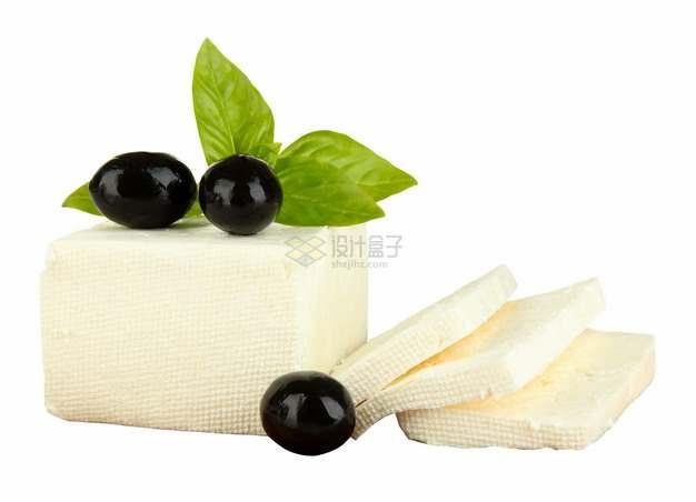 切开的淡黄色豆腐png图片素材