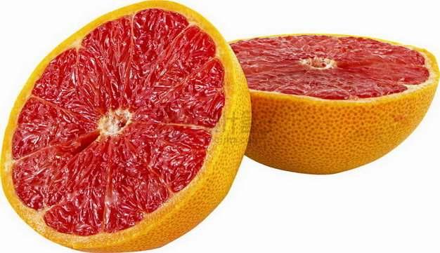 切开一半的柚子以色列红西柚png图片素材