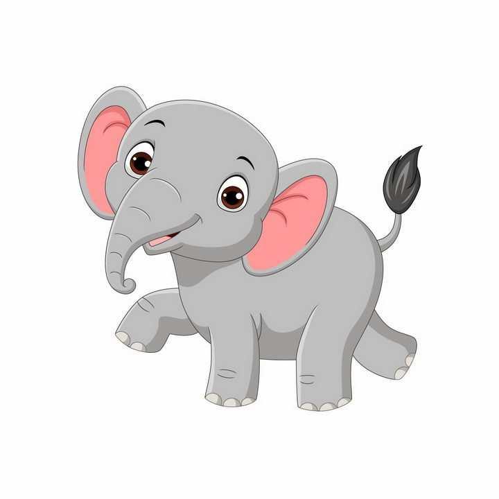 可爱的卡通大象动物儿童画png图片免抠矢量素材