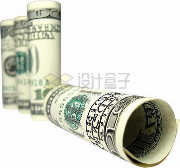 卷起来的美元钞票png图片素材