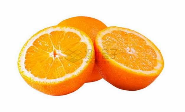 切开的橙子秭归脐橙png图片素材